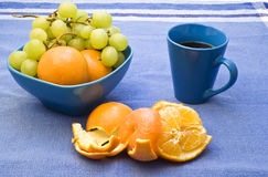 Coffe et fruit Image stock