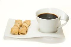 Coffe et gâteau Photos stock