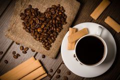 Coffe fasola Zdjęcia Royalty Free