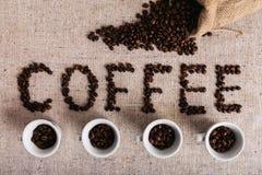 Coffe fasola piec, ładna tekstura Obrazy Stock