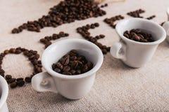 Coffe fasola piec, ładna tekstura Obrazy Royalty Free