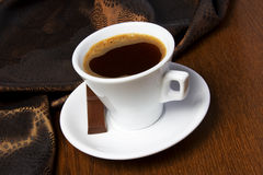 Coffe filiżanek Czekoladowy cukierek Zdjęcia Royalty Free