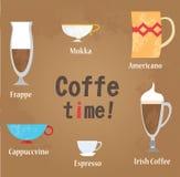 Coffe filiżanek wektoru ilustracja Zdjęcie Stock