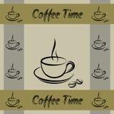 Coffe filiżanki walpaper wzór ilustracja wektor