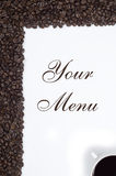 Coffe Frame. Coffe Bean in Frame for Menu royalty free stock images