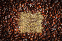 Coffe frame Stock Images