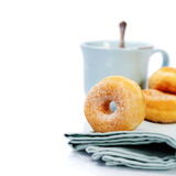 Coffe and fresh donuts Royalty Free Stock Image