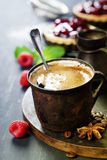Coffe with Fruit dessert Stock Photography