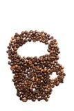 Coffe grains cup Stock Photos