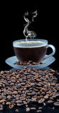 Coffe with granules Royalty Free Stock Photo