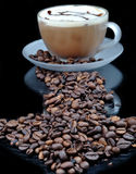 Coffe with granules Royalty Free Stock Photos