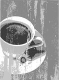Coffe grunge stock illustration