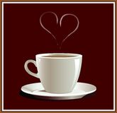 Coffe_hart. Cup of coffee with hart. Vector illustration Stock Image