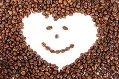 Coffe heart Stock Image