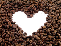 Coffe and heart Stock Photos