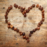 Coffe heart Royalty Free Stock Image