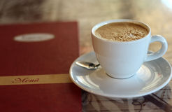Coffe i menu Fotografia Royalty Free