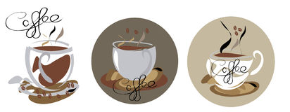 Coffe icons: Royalty Free Stock Photo