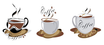 Coffe icons: Royalty Free Stock Photos