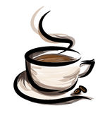 Coffe-Illustration Stockfoto