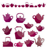 Coffe kettles. Vector illustration of tea and coffe kettles Royalty Free Stock Photography