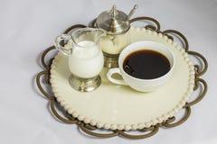 Coffe kopp och uppsättning Arkivbild