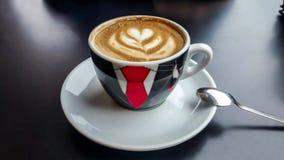 Coffe kopp på svart bakgrund Royaltyfria Bilder