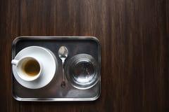 Coffe kopp Tray Refreshment Concept royaltyfria bilder