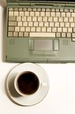 Coffe, laptop royalty free stock photos