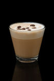 Coffe Latte Cup On The Black Background Royalty Free Stock Image