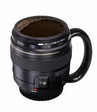 Coffe lens Royalty Free Stock Images