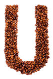 Coffe letter U Stock Photo