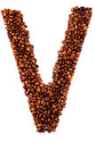 Coffe letter V Royalty Free Stock Photography