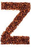 Coffe letter Z Stock Images