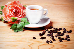 Coffe in liefde Stock Foto