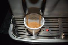 Coffe lub kawa espresso robić z włoską coffe maszyną Zdjęcia Stock