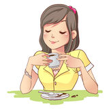 Coffe-Mädchen Lizenzfreies Stockbild