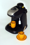 Coffe machine. With two cups Royalty Free Stock Image