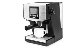 Coffe maker. Isolated coffe maker on a white background Royalty Free Stock Images