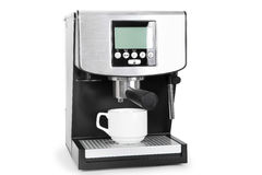 Coffe maker. Isolated coffe maker on a white background Stock Photography