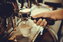 Coffe manchine Professional coffee The coffee Drinks containing Stock Photo