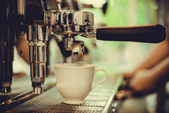 Coffe manchine Professional coffee The coffee Drinks containing Royalty Free Stock Image