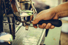 Coffe manchine Professional coffee The coffee Drinks containing Royalty Free Stock Photo