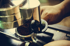 Coffe manchine Professional coffee The coffee Drinks containing Stock Image