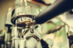 Coffe manchine Professional coffee The coffee Drinks containing Royalty Free Stock Photos