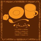 Coffe menu illustrations Royalty Free Stock Photography