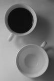 Coffe met en forme de tasse le yang de yin Photo libre de droits