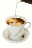 Coffe with milk Royalty Free Stock Images