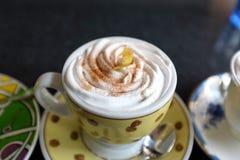 Coffe-Mokkaeis mit Sahne gemischt und Vanillechip lizenzfreie stockfotos