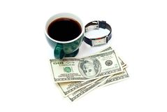 Coffe and money Royalty Free Stock Photography